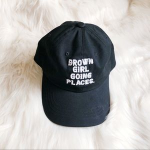 Brown Girl Going Places Hat/ Cap